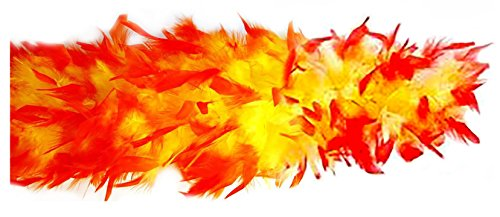Costume Adventure Yellow and Red Feather Boa 70 Weight Red Yellow Boa ()