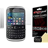 [Pack of 3] TECHGEAR® BLACKBERRY CURVE 9320 INVISIBLE Screen Protector With Cleaning Cloth & Application Card