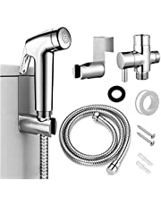 Harrianna Bidet Sprayer for Toilet,Lightweight ABS structure,chrome plated stainless steel hose,wall bracket,steering valve and accessory screws,ideal to clean your personal body areas,floors,pets and bathtubs or water your plants,etc.