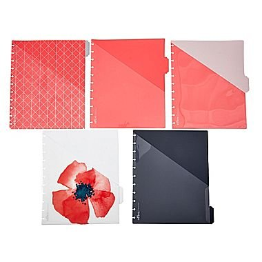 Martha Stewart Discbound Notebook Dividers with Pockets, Side-Tab Format, Persimmon (44913)