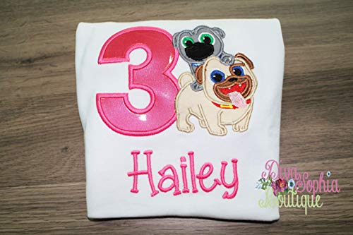 Puppy Dog Pals Girl Birthday T-shirt Personalized]()