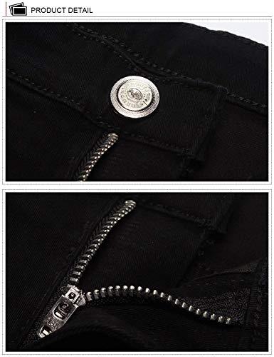 Di Solido Gamba Svago Pantaloni Jeans Casual Dritta 808b A Dei Serie Degli Dh8020x5 Skinny Uomini Colore z6Iwqx7R6
