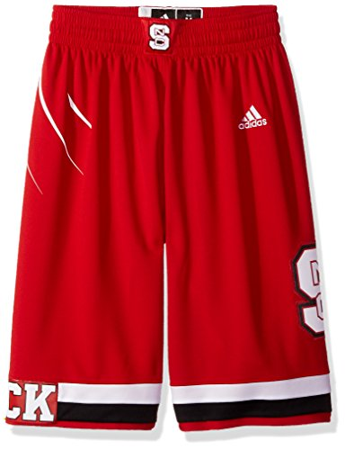 adidas NCAA North Carolina State Wolfpack Mens On Court Premier Basketball Shortson Court Premier Basketball Shorts, Power Red, Medium ()