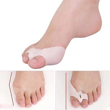 Footmate Separador para el Dedo Gordo del pie para Corregir los juanetes, de Silicona en Gel, 3 Pares (6 Unidades): Amazon.es: Deportes y aire libre
