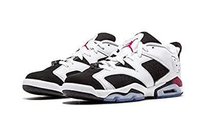 Nike Air Jordan 6 Retro Low GG, Zapatillas de Running para Niñas, Blanco / Morado / Negro (White / Sport Fuchsia-Black), 36 1/2 EU