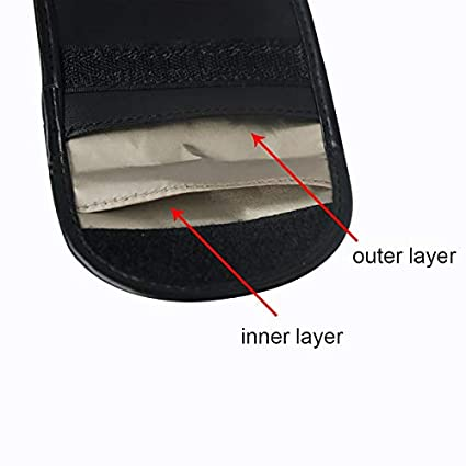 Pack of 3 Mengshen Key Fob Signal Blocking Bag Pouch Faraday Bag Cage RFID Signal Blocking Keyless Entry - Anti-hacking Car Key Protector for Wireless Car Keys PX01 4326791680
