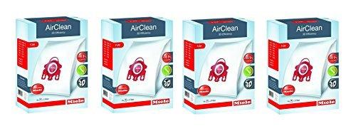 Miele AirClean 3D Efficiency Dust Bag, Type FJM, 16 Bags & 8