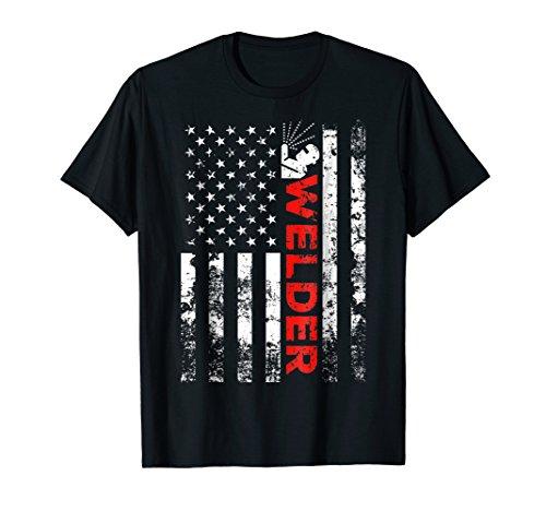 Welder Vintage USA American Flag Welding Shirt