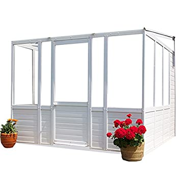DIY Budget Plastic Glazed Sunroom Garden Room Conservatory Lean To Cabin  2.5m Wide
