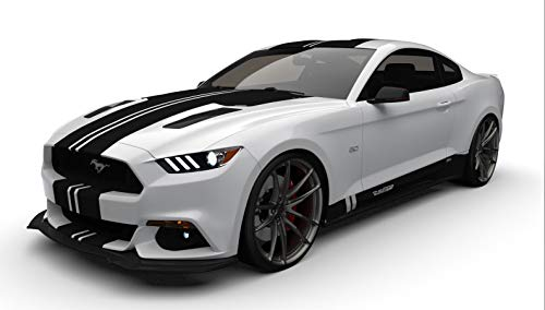 Raceskinz RS50 D3NIAL Edition Premium Vinyl Graphics Kit, Matte Black fits 2015-2017 Ford Mustang GT. Quality Custom Vinyl Stripe Decal Graphic Sticker Body ()