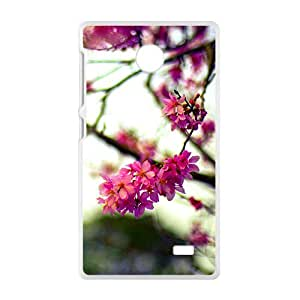 Pink Tree Flowers White Phone Case for Nokia Lumia X