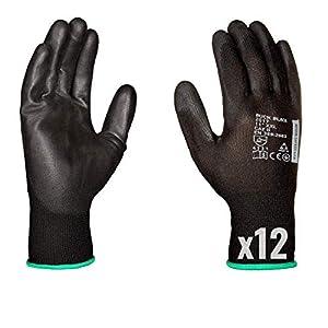 Guanti da lavoro (12 paia) - Guanti di montaggio antiscivolo senza cuciture - comodi da indossare, ideali per… 41a853OFA%2BL. SS300