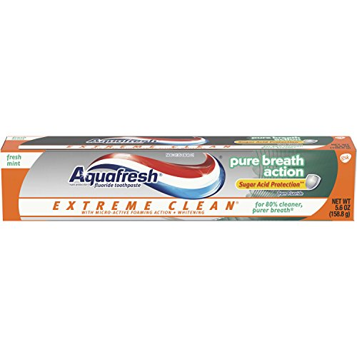 Aquafresh Extreme Clean Pure Breath Fluoride Toothpaste for Cavity Protection, 5.6 ounce