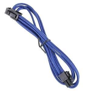 BitFenix 4-Pin ATX 12V 45cm - Cable (CPU P4 (4-pin), CPU P4 (4-pin), Macho/hembra, 12 V) Negro, Azul