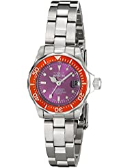 Invicta Womens 11439 Pro Diver Mini Purple Dial Stainless Steel Watch