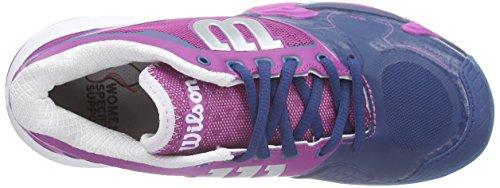 Wilson Rush Pro 2.0 Clay, Zapatillas de Tenis Unisex Adulto Rosa / Verde / Morado