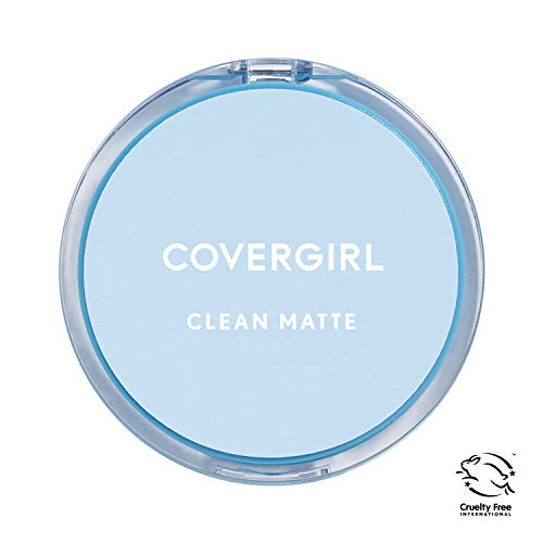 (COVERGIRL Clean Matte Pressed Powder, 1 Container (0.35 oz), Classic Ivory Warm Tone, Oil Control Face Powder, Fragrance Free (packaging may vary))