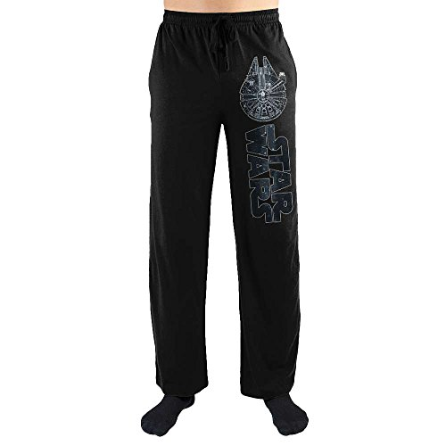 Star Wars The Millennium Falcon Print Men's Loungewear Lounge Pants XX-Large Black ()