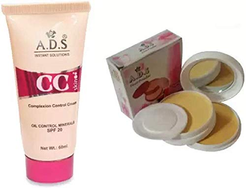 ADS CC Cream (SPF-20) / Compact Powder (2 Items in the set)