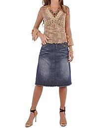 Sparkle Me Blue Denim Skirt
