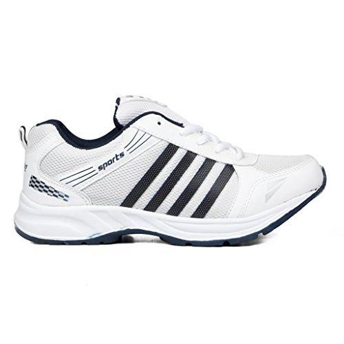 41a85mugDFL. SS500  - Asian shoes Wonder 13 White Navy Blue Men's Sports Shoes