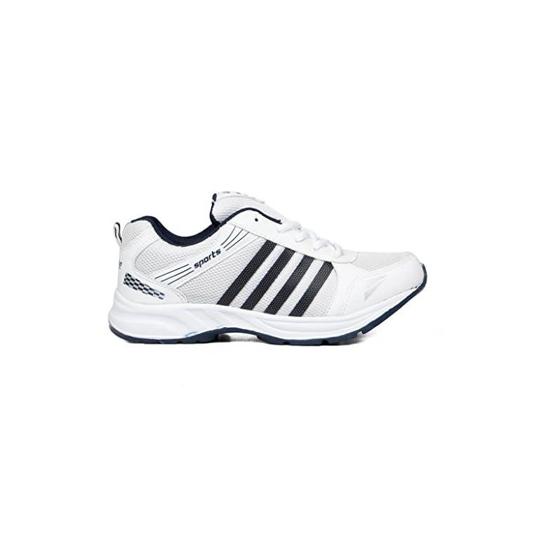 41a85mugDFL. SS768  - Asian shoes Men's Sports Shoe White Navy Blue Mesh 8 UK/Indian