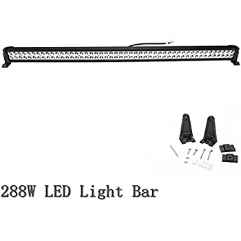 Topcarlight 50inch 288w LED Work Light Bar Spot/flood Combo Beam Off Road Lamps ATV SUV UTE 4x4 4wd