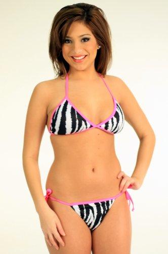 51d066eb7b R201 Hot Zebra Tonga Bikini Top  M   Bottom  S swimsuit - Buy Online ...