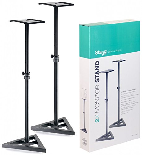 Stagg SMOS-10 SET Height Adjustable Studio Monitor Stands by Stagg