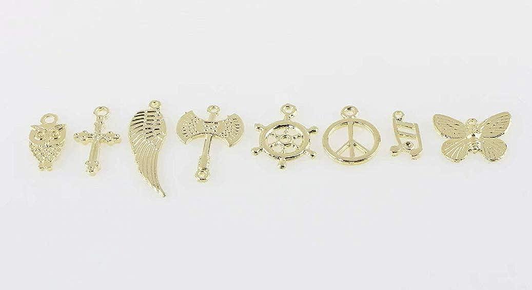 BestMall 100 pcs Mix de broloques plaqu/é Argent pour Collier pendentifs Bijoux DIY Bracelet
