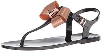 Ted Baker Women's Camaril Sandal, Black, 8 B(M) US
