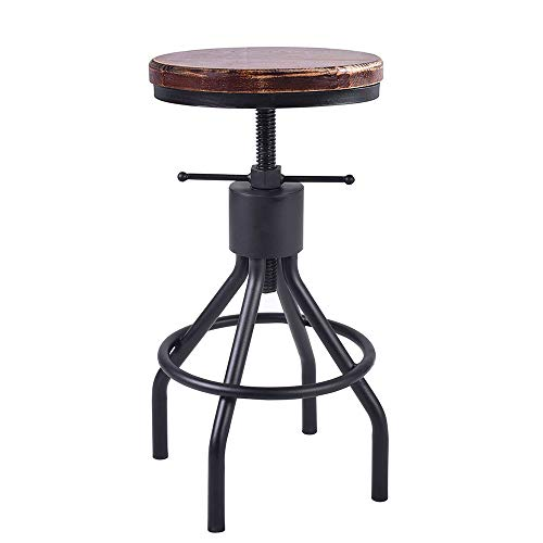Industrial Swivel Bar Stool Extra Tall Counter Coffee Kitchen Dining Chair American Style Height Adjustable -