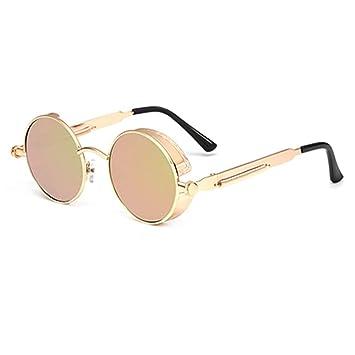 YYXXZZ Gafas de sol Hombres Mujeres Gafas Redondas Gafas de ...