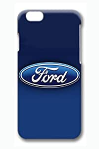 iPhone 6 Case, iPhone 6 Cases - Anti-Scratch 3D Print Hard Case for iPhone 6 Ford Car Logo Blue Customized Design Hard Case Cover for iPhone 6 4.7 Inches