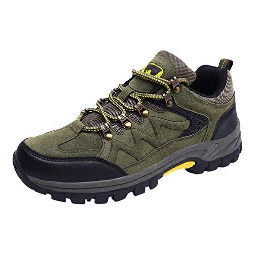 Chaussures Hommes Low Baskets Vert De En Impermable Trekking Respirant Marche Arme Bottes Yuanu Daim Lger Cut Anti Slip wfxqzFw5d
