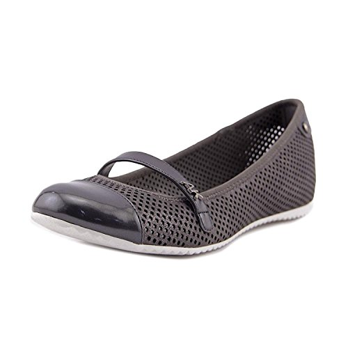 Anne Klein Womens Zariel Leather Closed Toe Mary Jane Flats, Pewter, Size 7.0