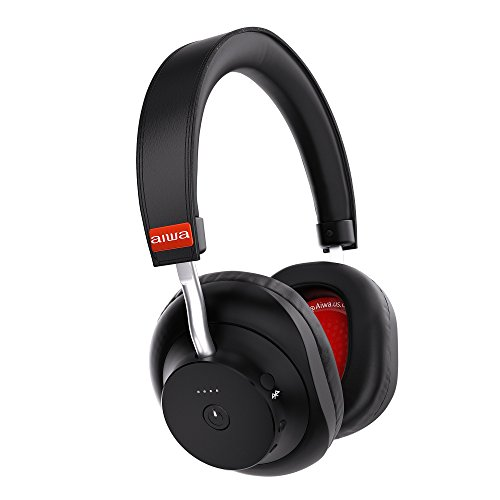 Aiwa Arc-1 Bluetooth Wireless Headphones Over Ear, 20H Playtime, Quick Charge, Precision Clarity with aptX, Over Ear Comfort Bluetooth Headphones