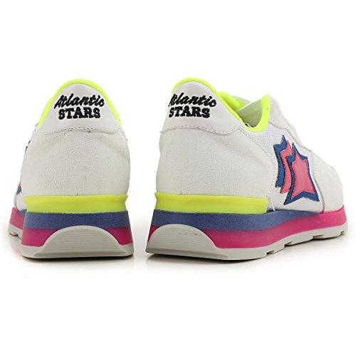 Camoscio Mod Sneakers Bianca 38 ATLANTIC e VEGA STARS e Donna Tessuto Rosa BGF 62GF FZ0n5txgwq