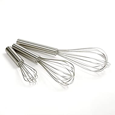 Norpro Balloon Wire Whisk Set of 3 Stainless Steel Stir/Mix/Beat 5.75  /8 / 10