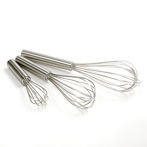 "Norpro Balloon Wire Whisk Set of 3 Stainless Steel Stir/Mix/Beat 6"" /8""/ 10"""