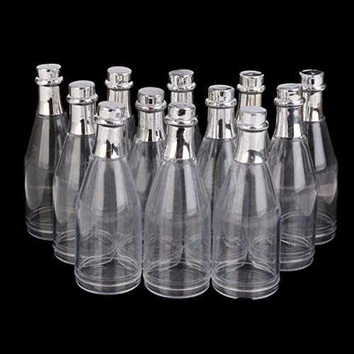 Hvlystory 12 Clear Fillable Cham pagne Bottles Candy Boxes Wedding Party Shower Favors