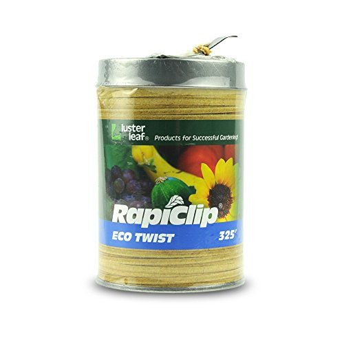 Luster Leaf Rapiclip Natural Biodegradable Eco Twist in Dispenser Can - 325 Foot 406 by Luster Leaf