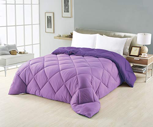 OPORTUNIDADES32 couette réversible fibre de 350 g, bicolore, couleur violet et lilas 90 cm (150x240)