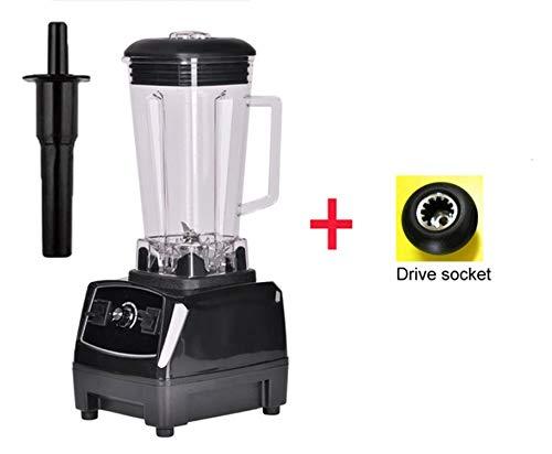 Heavy Duty Grade Blender Mixer Juicer High Power Food Processor Ice Smoothie Bar Fruit Blender,Black extra driver,EU Plug (Best Juice Bars Los Angeles)