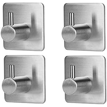 wall hooks 4 packs sageme adhesive hook heavy duty sticky wall hooks wall hangers. Black Bedroom Furniture Sets. Home Design Ideas