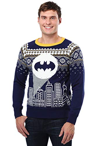Fun Costumes Batman Bat Signal Ugly Christmas Sweater 3X -