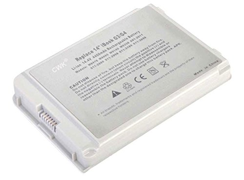 CWK New Replacement Laptop Notebook Battery for APPLE MAC iBook G3 G4 14 M8416 Apple iBook G3 G4 14 A1055 A1080 M9140 8 CELL G3 14 G4 14 A1055 A1134 14 inch A1080 G3 G4 Rechargeable battery G4 14.1 A1062 A1080 M8416 M8665 661-2611 G4 M8665G M8665G/A M8862 by CWK®