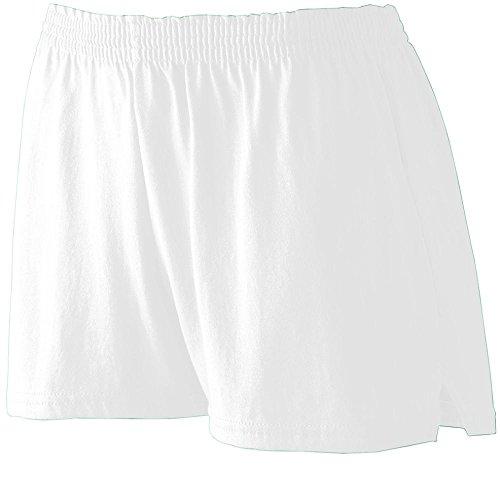 Augusta Sportswear Girls' TRIM FIT JERSEY SHORT L White