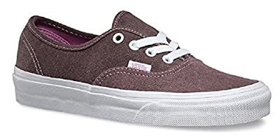 Vans Unisex Authentic (5.0 D(M) US Mens/ 6.5 B(M) US Womens, (Washed 2-Tone) Pink/True White)