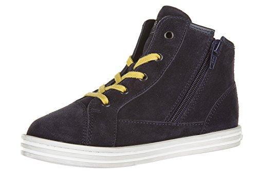 Hogan Rebel scarpe sneakers bimbo bambino alte camoscio nuove r141 blu